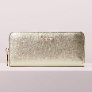 Kate Spade Gold Sylvia Slim Continental Wallet